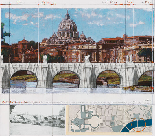 "Christo: Bild ""Ponte Sant Angelo, Rome, Wrapped"" (2011)"