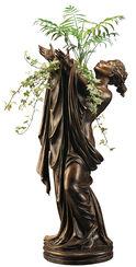 """Statuette """"Göttin Flora"""" (mit Vaseneinsatz), Version in Bronze"""