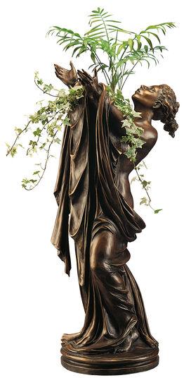 "Roman Johann Strobl: Statuette ""Goddess Flora"" (with Vase attachment), version in bronze"