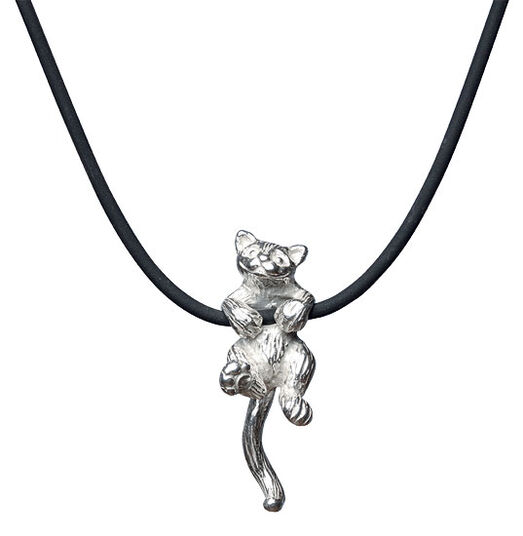 "Kerstin Stark: Necklace ""Cat"", sterling silver"