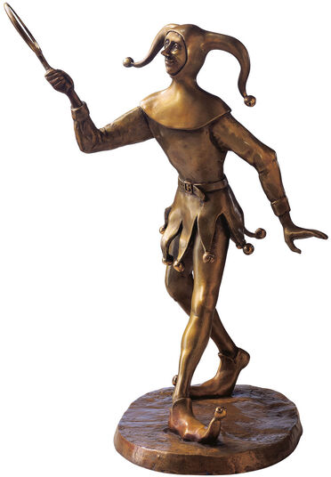 "RobiN: Sculpture ""Joker"", Bronze"