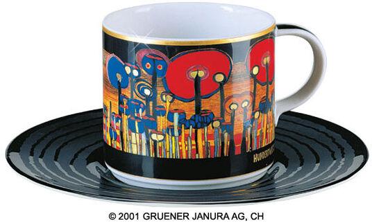 """Friedensreich Hundertwasser: (895D) Art Cup """"Attention grass"""""""
