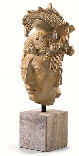 Maya Head - Sculpture