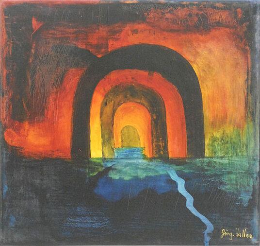 "Hans-Jörg Hamann: Bild ""Wassertempel"" (2012) (Original / Unikat), ungerahmt"
