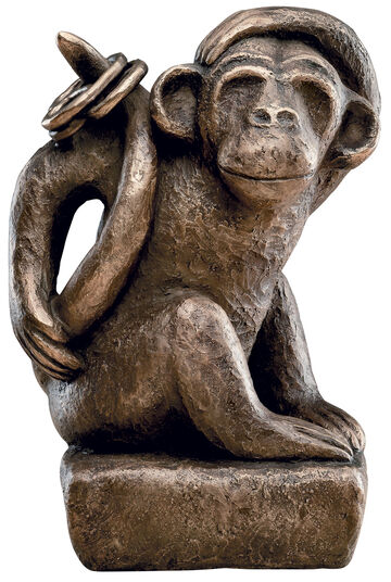 "Antje Michael: Sculpture ""Fipps, the Monkey"" (2011), bronze"