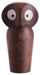 "Wooden Figure ""Owl Dark Brown"" (Small, Height 12 cm)"