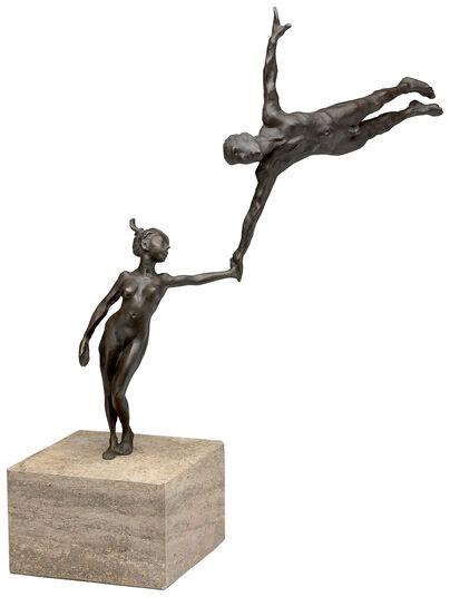 """Antonio de Andrés-Gayón: Skulptur """"Vertrauen - Kunststück Partnerschaft"""", Bronze"""
