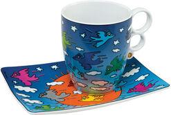"""Porcelain cup """"Birds Love"""""""