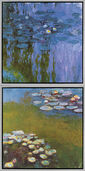 "Set of 2 Pictures ""Water Lilies II"" (Nympheas 1916-19) and ""Waterlilies I"" (Nympheas 1914-17)"