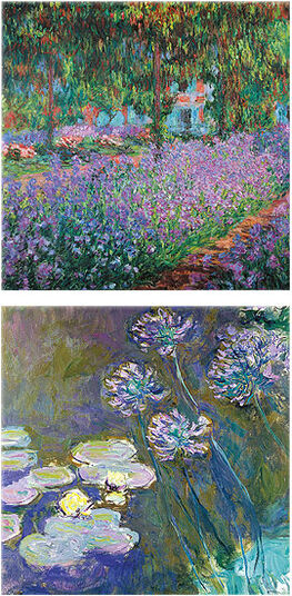 Claude Monet: Set of 2 glass pictures