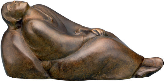 "Ernst Barlach: Sculpture ""Dreaming Woman"" (1912), reduction in Bronze"