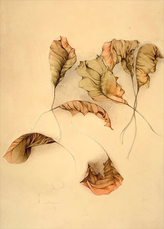 "Picture ""Autunno II (Autumn Leaves II)"" (1987), unframed"