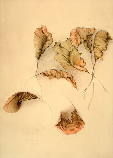 "Bruno Bruni: Picture ""Autunno II (Autumn Leaves II)"" (1987), unframed"