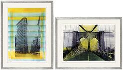 """2 Bilder """"Flat Iron Building New York"""" und """"Brooklyn Bridge New York"""" im Set"""