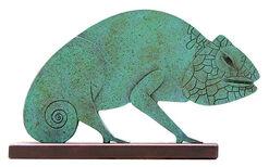 """Skulptur """"Chamäleon"""", Metallguss"""