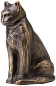 "Sculpture ""Seated Cat"", Bronze"