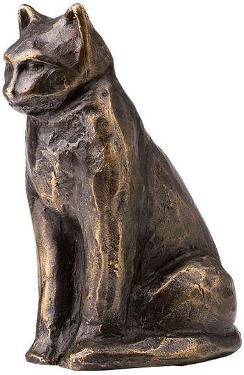 "Mechtild Born: Sculpture ""Seated Cat"", Bronze"