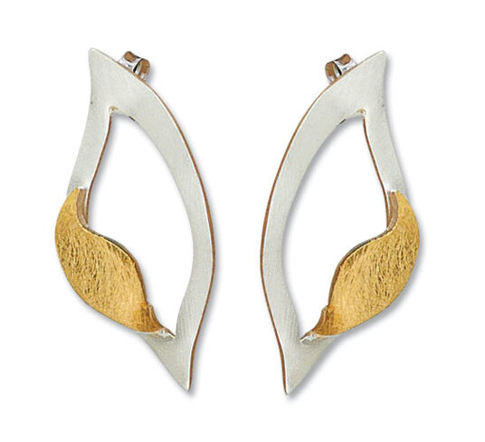 "Béatrice Wolfart: Earrings ""Tree Leaf"""