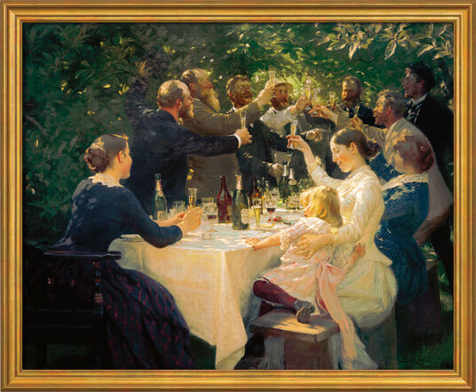 "Peder Severin Kroyer: Painting ""Artistic Fest at M. And A. Ancher"" (1888), Framed"