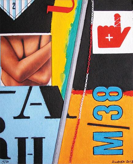 """Peter Klasen: Bild """"M 38"""" (2013)"""