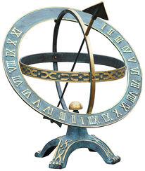"""Sonnenuhr """"Stundenring"""", Bronze"""