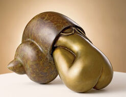 """Skulptur """"Solitudine"""", Bronze"""