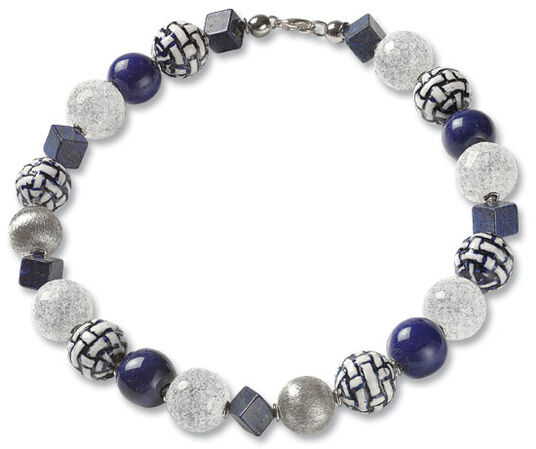 "Anna Mütz: Necklace ""Crystal Delft"""