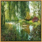 """Bild """"Giverny le Soir"""", gerahmt"""