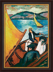 """Bild """"Segelboote am Tegernsee"""" (1910), gerahmt"""