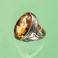 "Ring ""Amber"" with Glass Intaglio"
