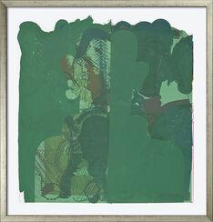 "Bild ""Selbstbildnis als Portion grünen Salates"" (1973), gerahmt"