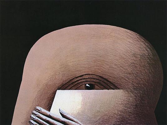 """Horst Antes: Bild """"Halber Kopf"""" (1974), ungerahmt"""