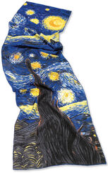 "Silk scarf ""Starry Night over Rhône"" (1888)"