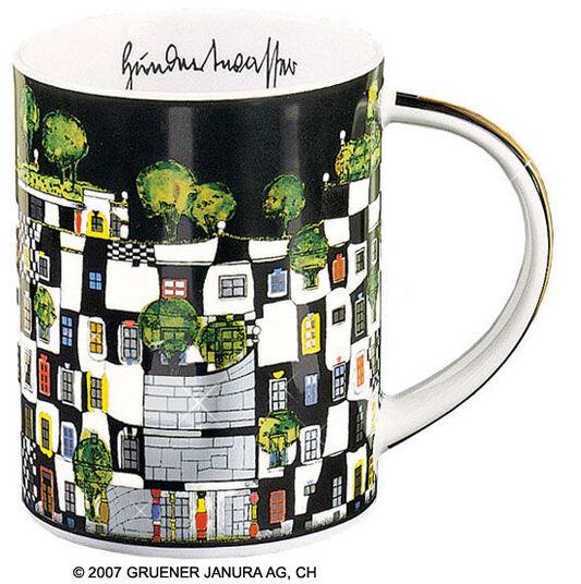 """Friedensreich Hundertwasser: Magic Mug """"KunstHausWien"""", porcelain"""