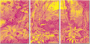 "3-part Painting ""Floral Fantasy"""