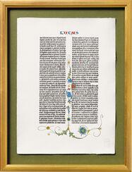 Die Weihnachtsgeschichte aus der ersten Bibel Gutenbergs, gerahmt