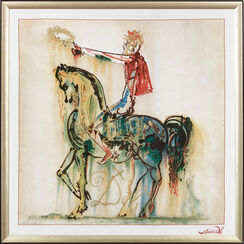 """The Roman Rider"" (Silk cloth framed)"
