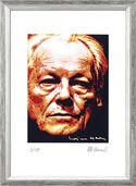 """Bild """"Willy Brandt"""", gerahmt"""