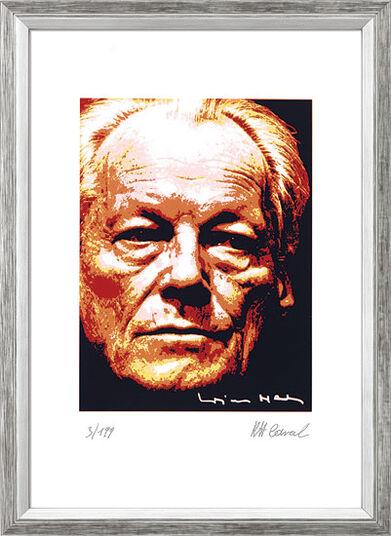 """Karl-Heinz Laval: Bild """"Willy Brandt"""", gerahmt"""