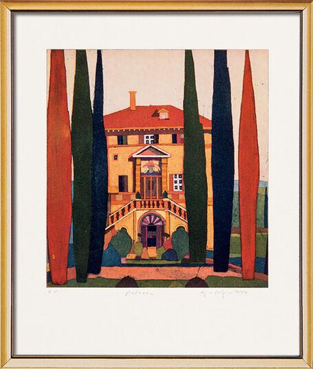 "Gerhard Hofmann: Bild ""Palazzo"", gerahmt"