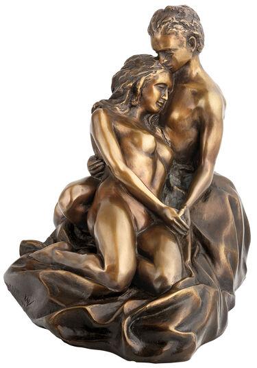 """Kay: Skulptur """"Liebespaar"""" (2017), Version in Bronze"""