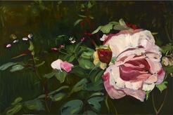 """Bild """"Eine Rose im Garten Liebermanns"""" (2016) (Unikat)"""