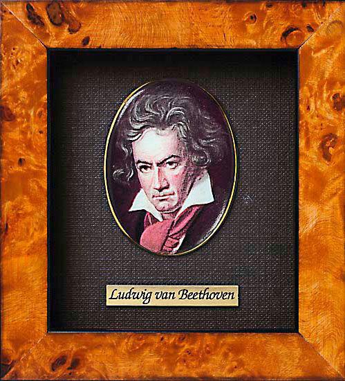 Miniature portrait of Ludwig van Beethoven (1770-1827)