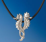 "Necklace ""Seahorse"", 925 Sterling Silver"