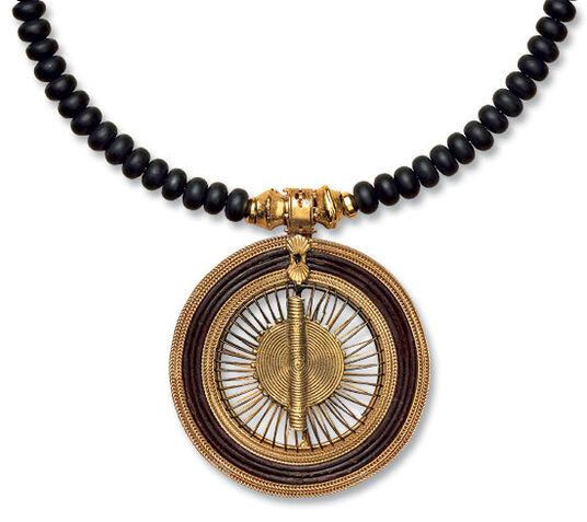 """Petra Waszak: onyx necklace """"Queen of Sheba"""""""
