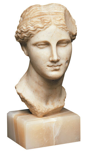 Portrait Head of the Ptolemaic Queen Arsinoe II., as Aphrodite