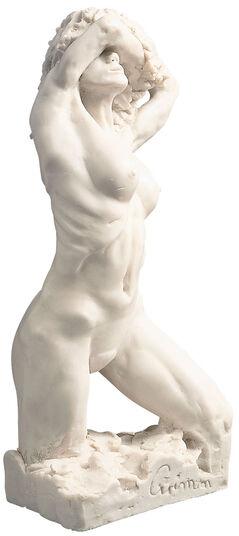 """Wolfgang Grimm: Skulptur """"Eva 2000"""" (1995), Version in Kunstmarmor"""
