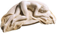 "Sculpture ""La favorita di notte"", version in artificial marble"