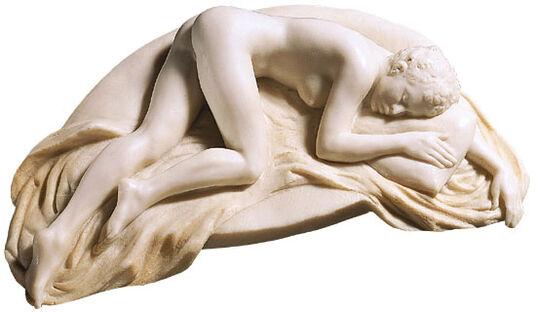 "Meta Morfosi: Sculpture ""La favorita di notte"", version in artificial marble"