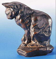 "Skulptur ""Katze"", Version in Metallguss"